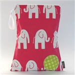 BABY by Danish - Pink Elephants Wet Bag